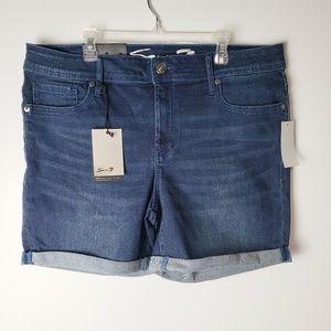 Seven7 Mid Rise Stretchy Jenan Shorts